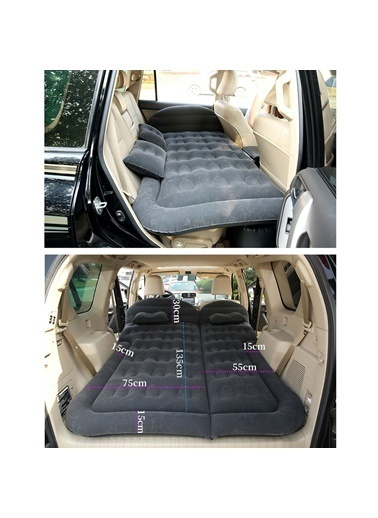 Techmaster Suv Minivan Şişme Araba Yatağı Kamp Yatağı + Hava Kompresörü Renkli